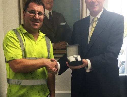 Vacu-Lug Team Leader, Mark Fardell, celebrates 25 years' service